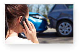 Member On Phone After Car Accident